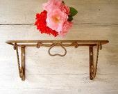 Vintage rusted Shelf base, decorative rustic metal base for a shelf, Farmhouse, cottage chic