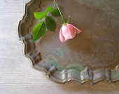 Rustic Copper Tray, Vintage Oval tray