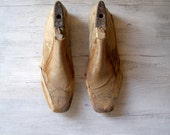 Reserved for Estelle......................Wooden shoe Trees, Antique Shoe molds