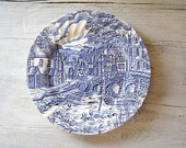 Reserved for jolieni................STAFFORDSHIRE wall plate, Vintage Alfred Meakin plate, made in England