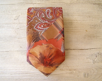 Italian Silk Tie, Vintage man Tie, Mid Century Mensware, mad men, office elegant, gift for boyfriend, gift for Dad