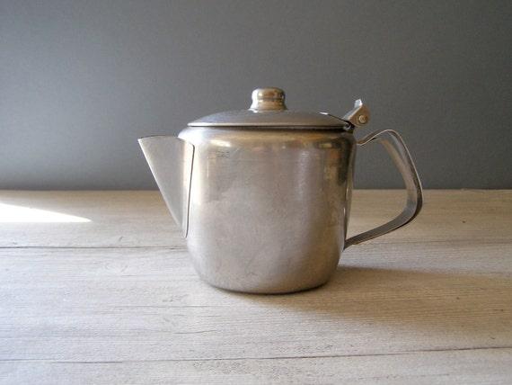 Stainless Steel Teapot, Vintage 80s teapot