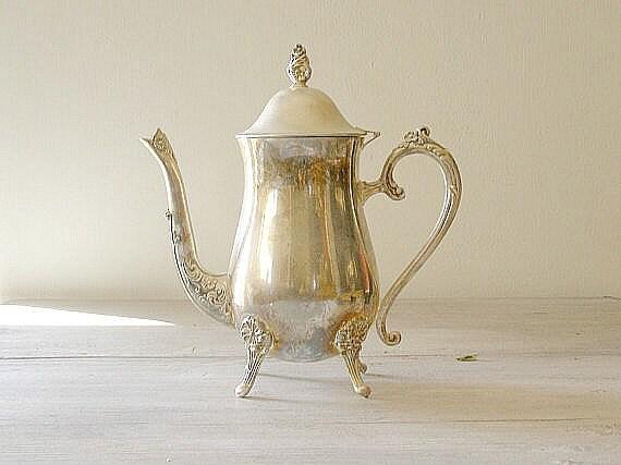 Silverplated Teapot, Vintage Tea Kettle