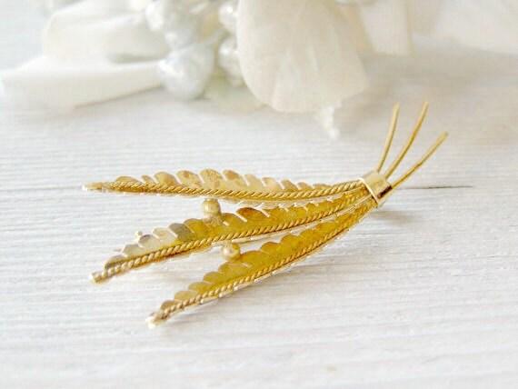 Gold Branch Brooch, Vintage 14k gold brooch