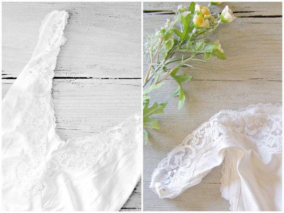 Vintage Romantic slip, St Michael, Off-white undergarment, mid century camisole, vintage lingerie