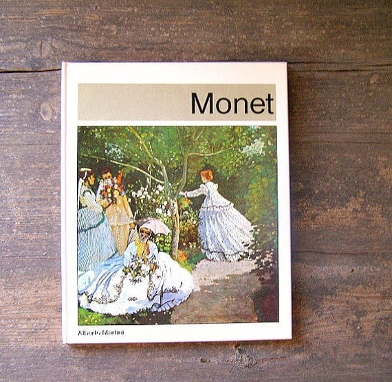 MONET Paintings book, Vintage 1978 edition, impressionism, Art Book, Gift for painter, collectible, Landscape prints,