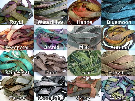 Hand Dyed Silk Ribbons- Extra Ribbons