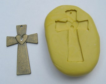 Cross mold mould - Flexible silicone push mold of cross - Food grade quality silicone material