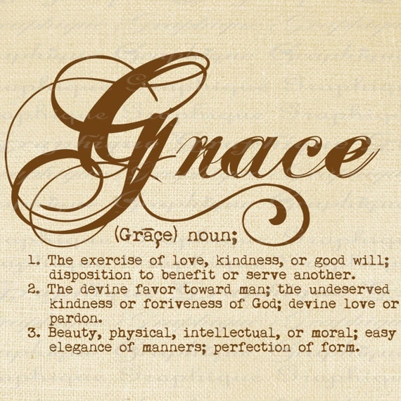 Items Similar To Definition Grace Word Typography Digital