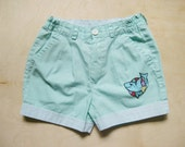 vintage kids MINT GREEN HIPSTER Shorts Beachy Dolphin Size 6
