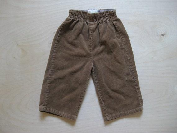 vintage kids HIPSTER BROWN CORDUROY Pants 12 Months
