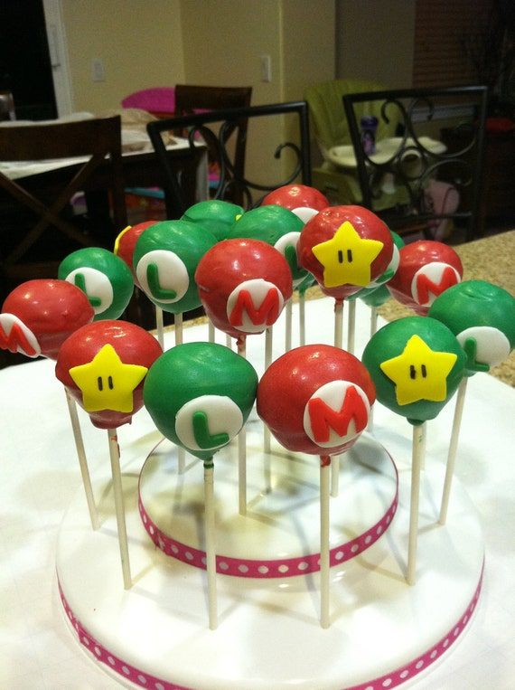 Items Similar To Super Mario Bros Cake Pops On Etsy
