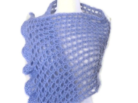 Lavender Oh-So-Soft Lace Shawl