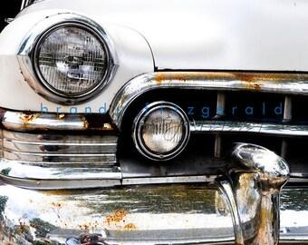 Vintage Cadillac Photograph Rusty Car Provincetown Cape Cod Scenery Beach Wall Decor