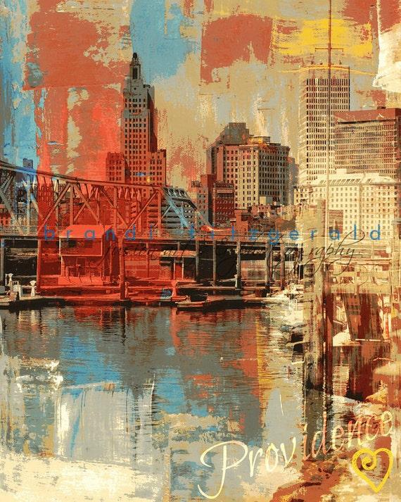 Providence Rhode Island City Skyline Product Options and Pricing via Dropdown Menu