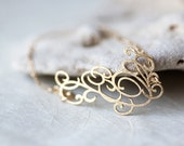 Curves14k gold fill chain Bracelet pardes israel