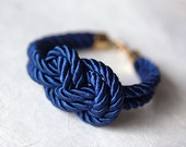 Navy blue Nautical Cord Sailor Knot Bracelet