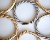 For your choice TWO Nautical twisted rope Caramel or Taupe Bangle Bracelets by pardes israel