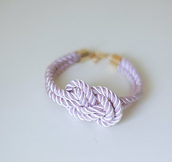 Delicate pink Nautical Knot  Silk Rope  Bracelet