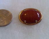 Small Goldstone Pin with 12K goldfill setting