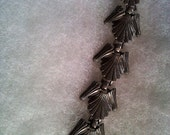 Vintage Silvertone Chunky Bracelet  - Perfect for your Mad Men Party