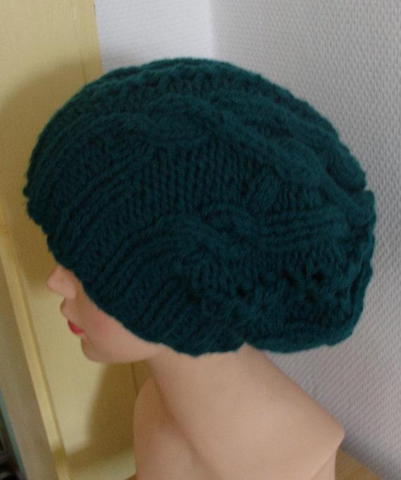 cable knit hat slouchy women end men green, red High Heat Cap -original model in braids - Oversized Hat -knit hat slouchy women and men