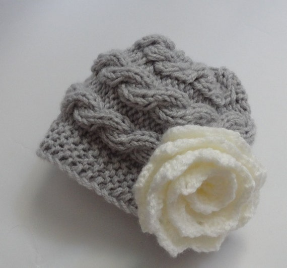 Baby Hat, Baby Girl Hat Newborn Hat Photo Prop, Baby Knit Hat Girl Knit Hat, Infant Hat Newborn Baby Girl Hat, Baby Girl Newborn Hat #13