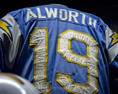 San Diego Chargers Vintage Football Jersey, Lance Alworth Jersey Photo, StrongylosPhoto, man cave item