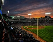 photo on canvas, Fenway Park at sunset, StrongylosPhoto, Boston Red Sox, Massachusetts