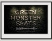 Green Monster Seats print, matted and framed, ready to hang, Boston Red Sox, Fenway Park, sports fan, man cave