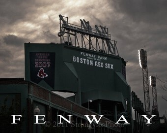 Fenway, Home of the Boston Red Sox, 8x12 fine art photography, StrongylosPhoto, office decor, man cave