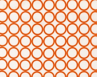 Fat Quarters ONLY - Orange Circles on Off-White From Robert Kaufman's Metro Living Collection