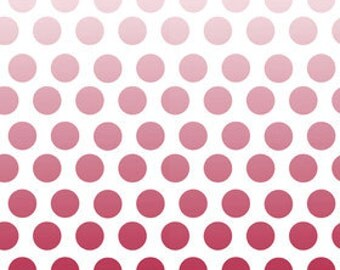 Red Ombre Dots From Riley Blake