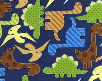 Dinosaurs on Navy from Robert Kaufman