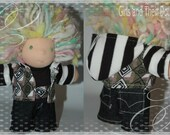 3 piece Hoodie set with jeans made to fit 7 to 8 inch waldorf dolls