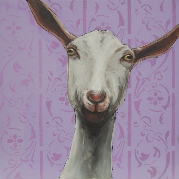 Goat Card Collection, 5 Quirky Goats,  Saanan, Alpine, Anglo Nubian, Golden Gurnsey and Toggenburg