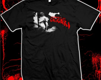 The Cabinet of Dr. Caligari - '20s silent horror - hand made silk screened 100% cotton tee shirt
