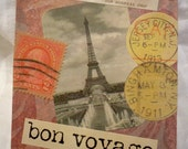 Eiffel Tower Travel Stamps Passport Cover