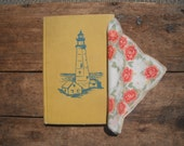 Lighthouses of America by Mina Lewiton copywright 1964 with vintage handerkerchief
