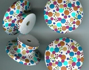 Spotty Dotty Handpainted Artisan Cabinet Knobs--U-Chooz How Many