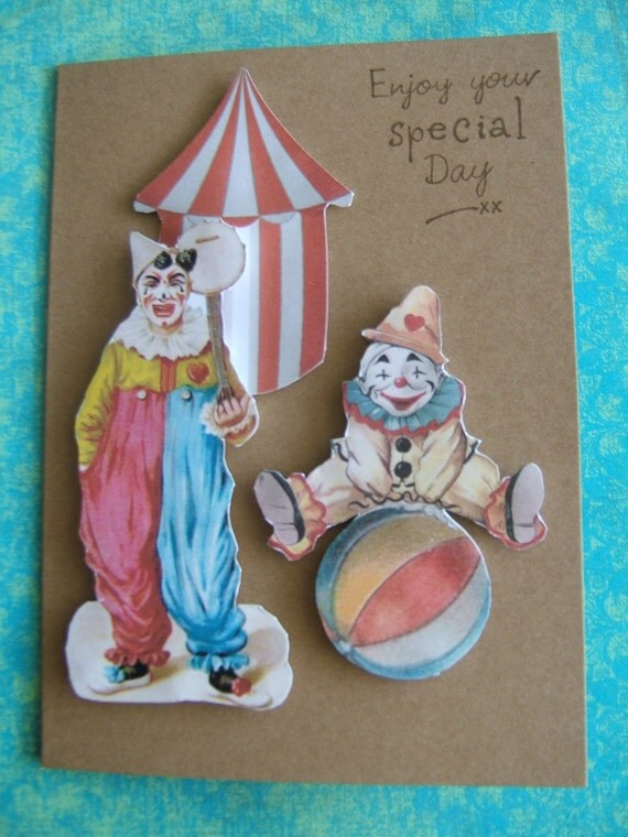 Decoupage Circus Card