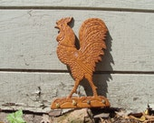Old Wooden Rooster Key Ring Holder