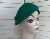 50's Emerald Green Wool Hat - UNION MADE