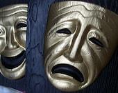 1955 Comedy/Tragedy Masks Wall Decor