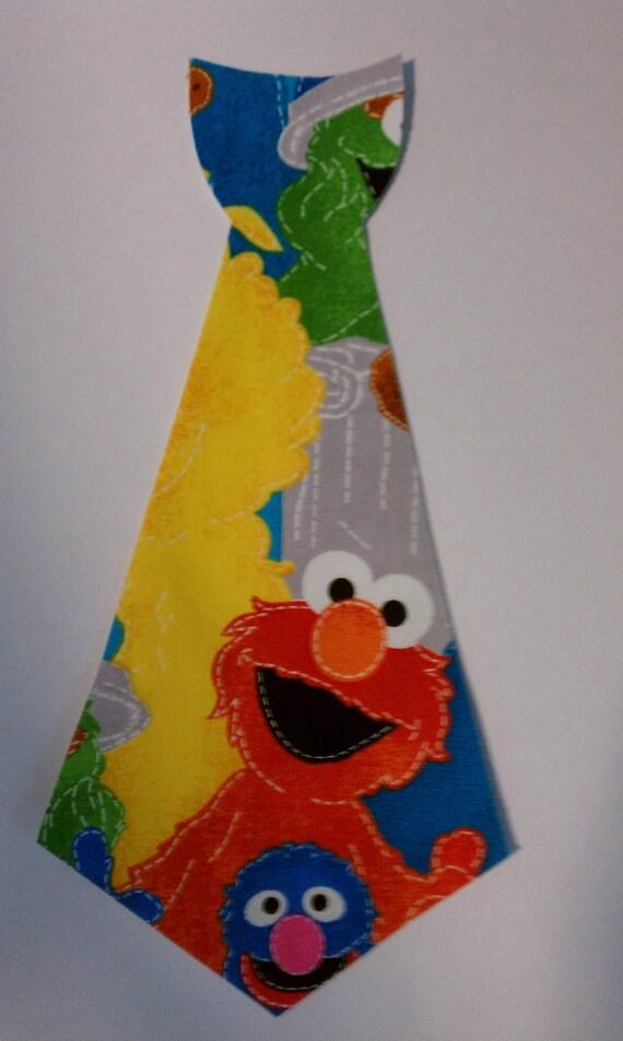 Sesame Street Tie Iron On No Sew Applique
