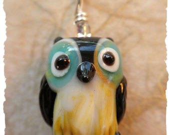Hootinitty Owl (black) stitch marker