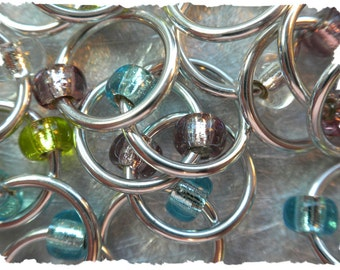 """Ringers """"Bright Shiny"""" stitch markers / ring markers / knitting markers / snag free"""