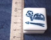 rubber stamp with porcelain handle (no.20) dress up
