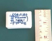 NEW  rubber stamp with porcelain handle (no.12) restaurant