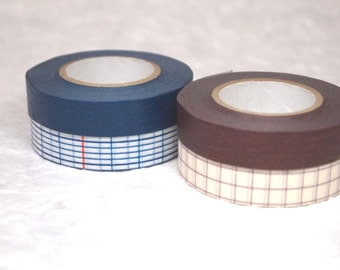 10% OFF  masking tape 2 rolls set (no.17-01) Only blue colour